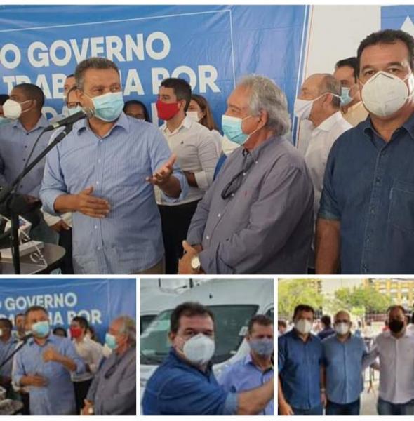 19/01: Deputado Marquinho Viana com Rui Costa na entrega de vans para os consórcios municipais de saúde