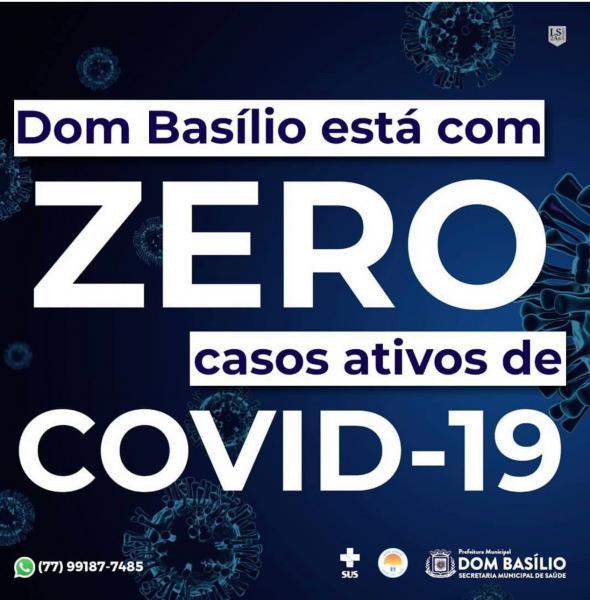 Dom Basílio zera número de casos ativos da Covid-19