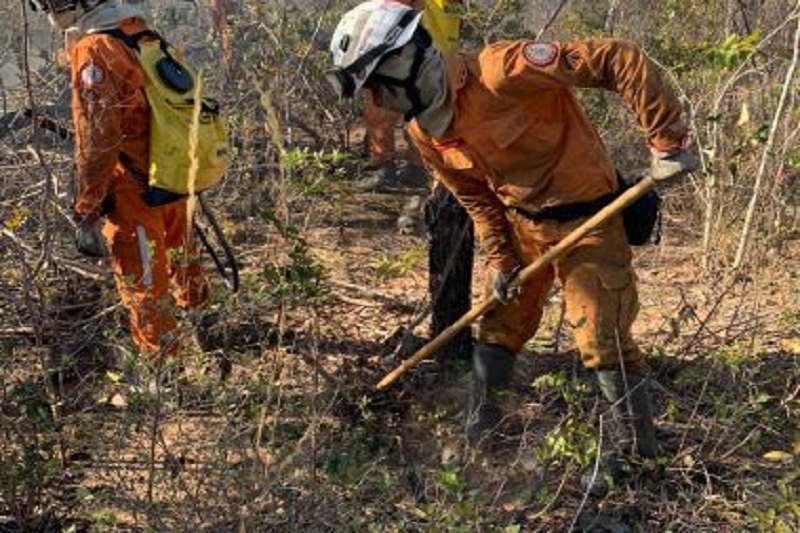 Bombeiros continuam em combate a incêndios na Bahia