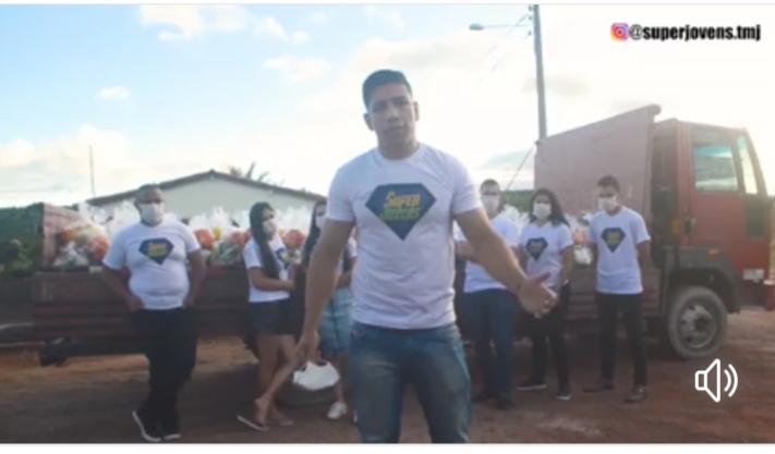 31/07/2020: DEPUTADO MARQUINHO VIANA PARABENIZA GRUPO SUPERJOVENS PELO SUCESSO DE LIVE BENEFICENTE