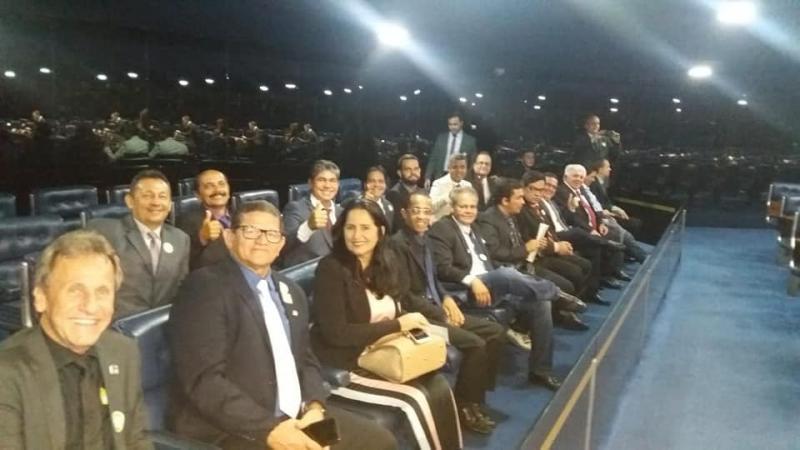 Prefeito de Dom Basílio integra comitiva em Brasília em busca de recursos