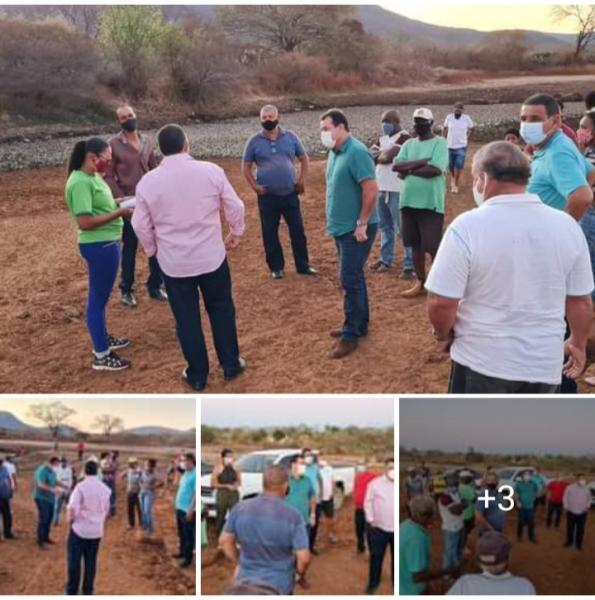 23/09: Deputado Marquinho Viana visita a barragem do Tamburil, em Livramento de Nossa Senhora
