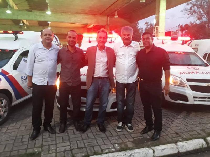 DOM BASÍLIO: PREFEITO ROBERVAL ESTEVE EM SALVADOR RECEBENDO NOVOS BENEFÍCIOS