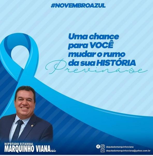 Deputado Marquinho Viana destaca novembro azul