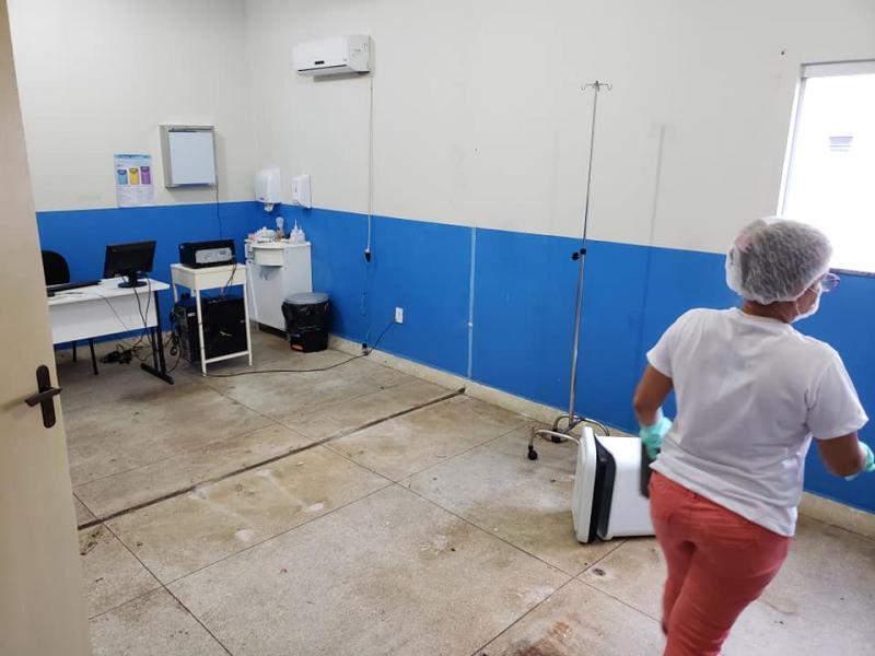 DOM BASÍLIO: HOSPITAL FOI ADAPTADO PARA RECEBER PACIENTES COM CORONAVÍRUS