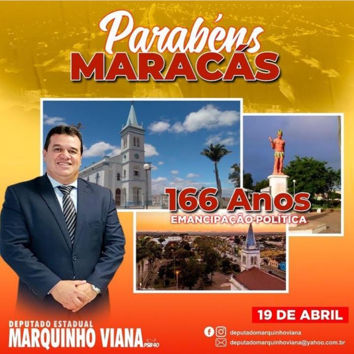 20/04: Deputado Marquinho Viana parabeniza os 166 anos de Maracás