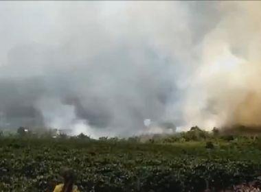 Incêndios atingem áreas em cidades da Chapada Diamantina