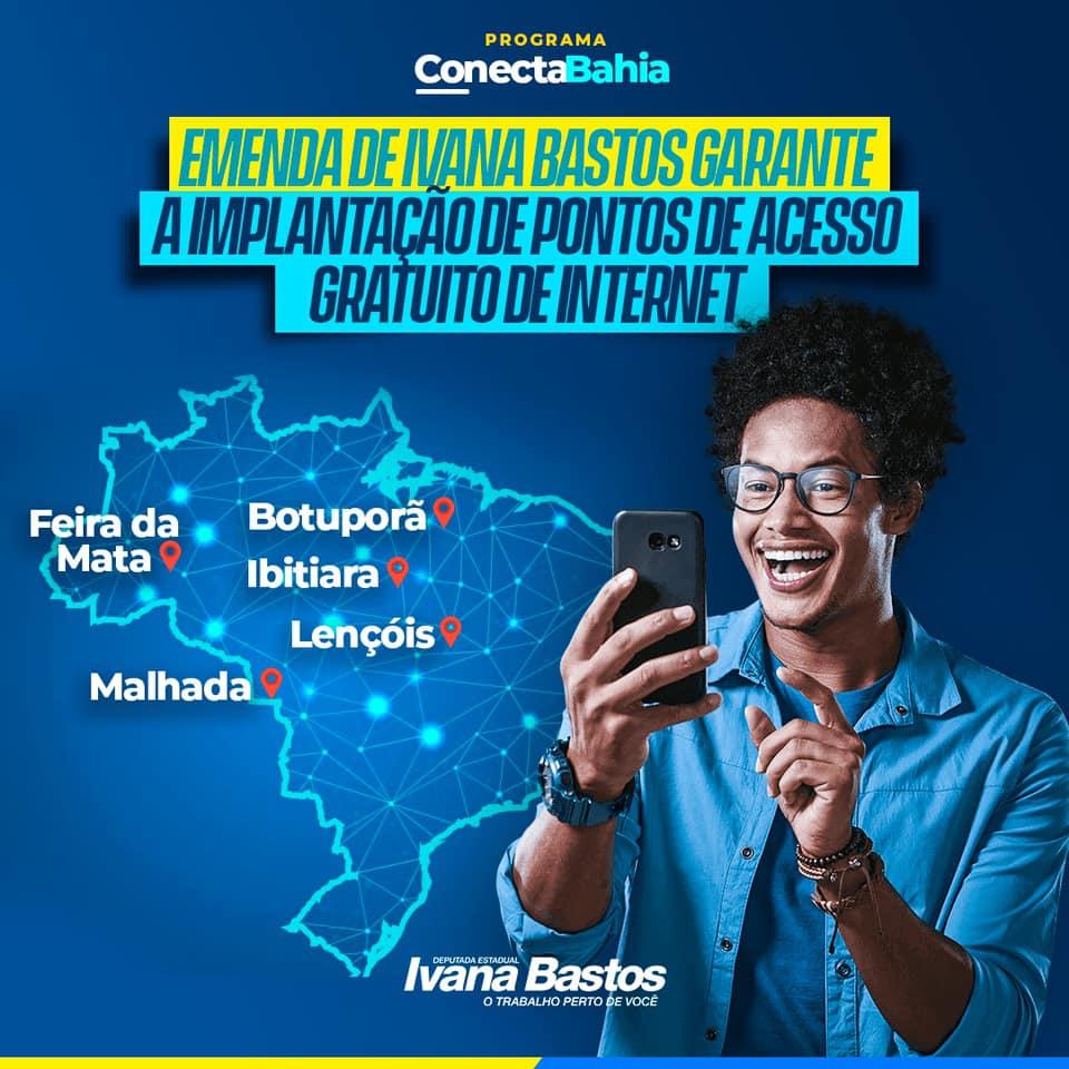 13/09: Ivana Bastos destina emenda para a implantação de pontos de internet em praças de municípios