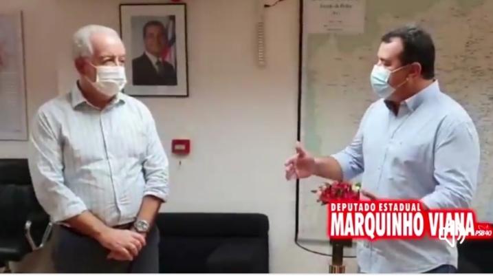 Deputado Marquinho Viana agradece a Marcus Cavalcante e ao governador Rui Costa novos acessos rodoviários para Barra da Estiva