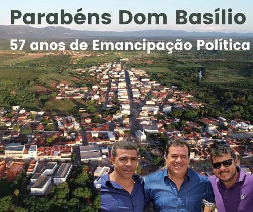 08/04/2020: DEPUTADO MARQUINHO VIANA PARABENIZA DOM BASÍLIO PELOS 57 ANOS DE EMANCIPAÇÃO POLÍTICA